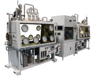 Caja guantes para aplicaciones nucleares