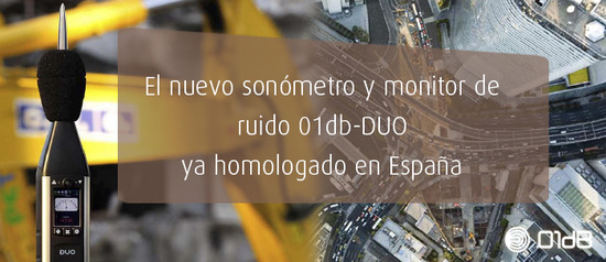 Nuevo sonómetro y monitor de ruido 01dB-DUO