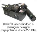 Cabezal láser cilíndrico o rectangular de argon, baja potencia - Serie 2211/14