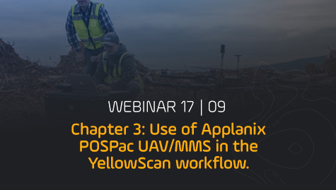 Use of Applanix POSPac UAV/MMS in the YellowScan workflow