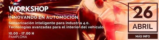 Participamos en la Jornada Innovando en Automoción, 26 de abril en Pamplona