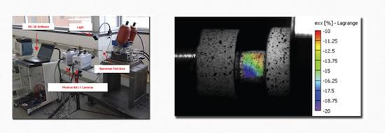 Videocorrelación: La solución para medición sin contacto. Ejemplo industrial